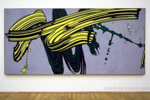 """""""Yellow and Green Brushstrokes"""" (1966) Roy LICHTENSTEIN, Musée d'Art Moderne de Francfort"""
