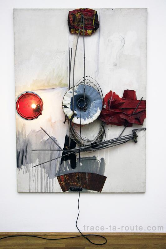 """""""Navigator"""" (1962) Robert RAUSCHENBERG, Musée d'Art Moderne de Francfort"""