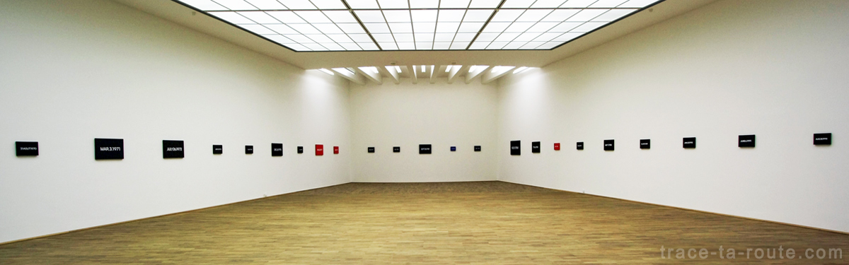 """Date Paintings"" (1966-2000) On KAWARA, Musée d'Art Moderne de Francfort"