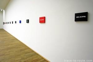 """Date Paintings"" (1966-2000) On KAWARA, Musée d'Art Moderne de Francfort"