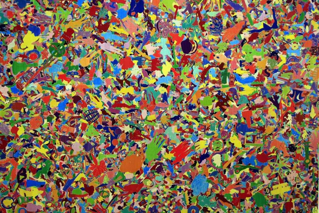 """""""Tutto"""" (1994) (détail) ALIGHIERO BOETTI, Musée d'Art Moderne de Francfort"""