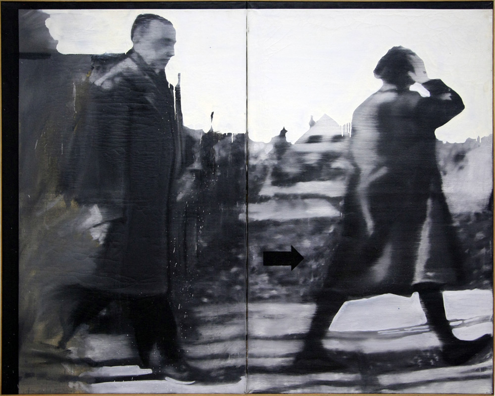 """Fußgänger"" (1963) Gerhard RICHTER, Musée d'Art Moderne de Francfort"