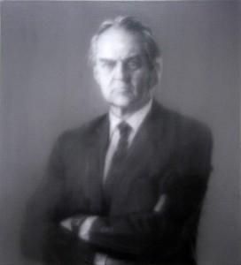 """Portrait d'Hilmar Hoffmann"" (1990) Gerhard RICHTER, Musée d'Art Moderne de Francfort"