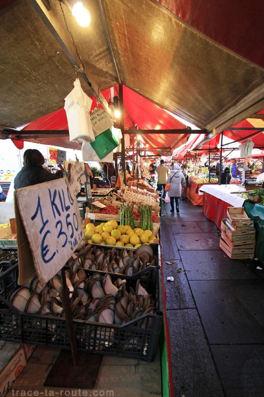 Le marché de la Piazza della Repubblica à TURIN