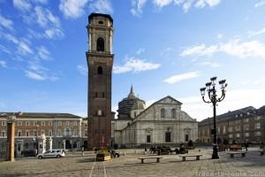 Piazza San Giovanni et Cathédrale Saint-Jean-Baptiste de Turin Duomo di Torino