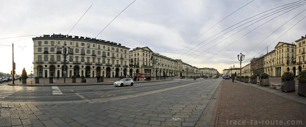 La Piazza Vittorio Veneto à TURIN