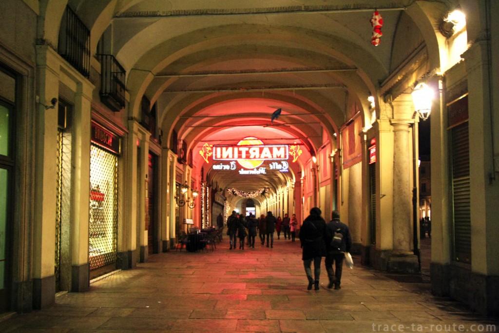 Arcades de la Piazza San Carlo à Turin