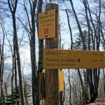 Panneau Sentier des 4 chemins, à la Dent du Chat