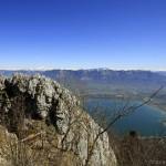 Vue sur le Lac du Bourget depuis la Dent du Chat