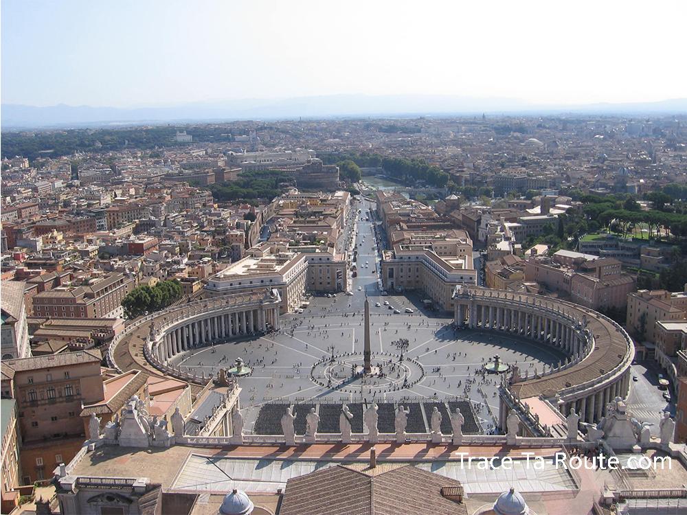 Panorama depuis le Dome de la Basilique Saint Pierre de Rome, Italie