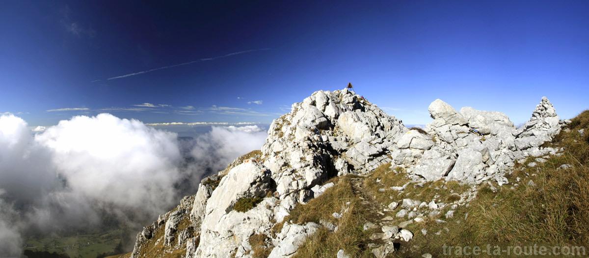 Le sommet du Trélod (Massif des Bauges)