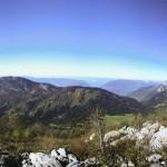 Vue sur le Massif des Bauges, depuis le Trélod