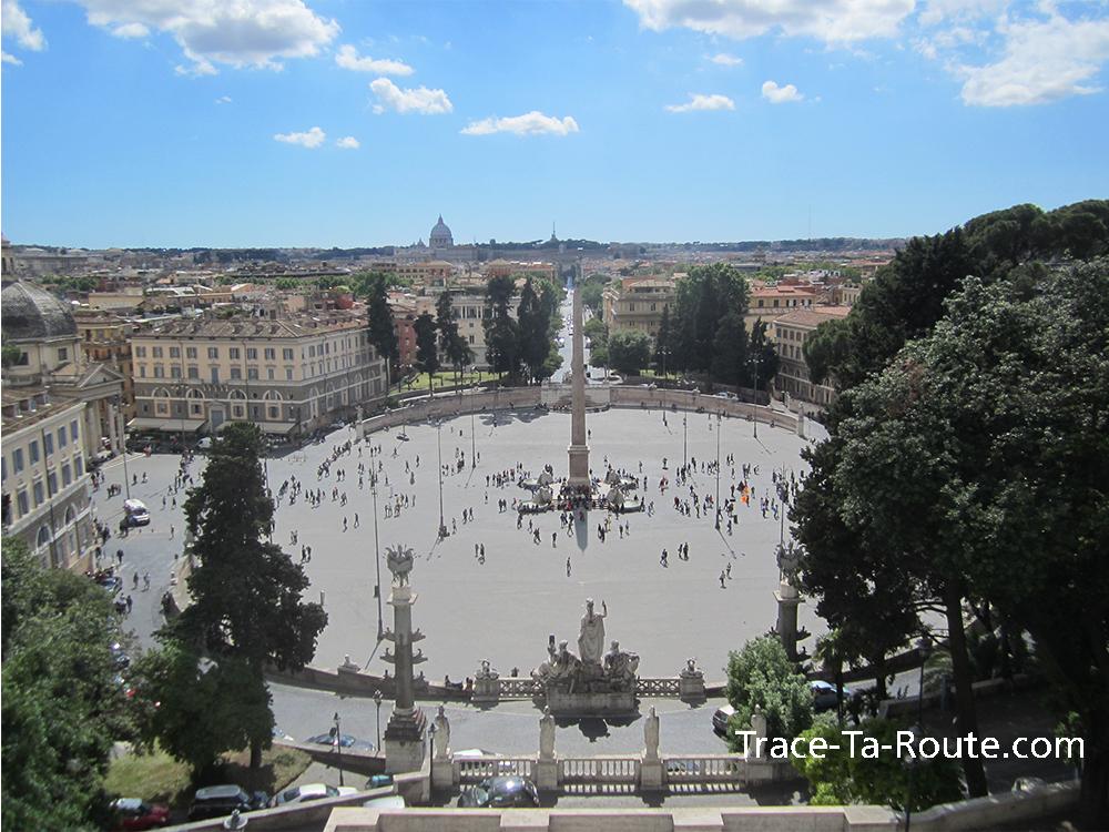 Panorama Villa Borghese de Rome, Italie