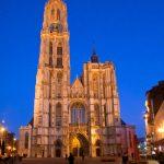 Cathédrale Notre-Dame d'Anvers de nuit