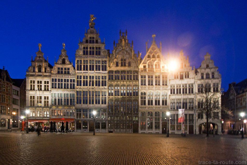 Gildenhuizen, maisons de guilde sur Grote Markt, Grand Place d'Anvers