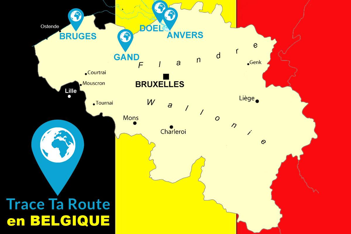 La Carte de Trace Ta Route en Belgique