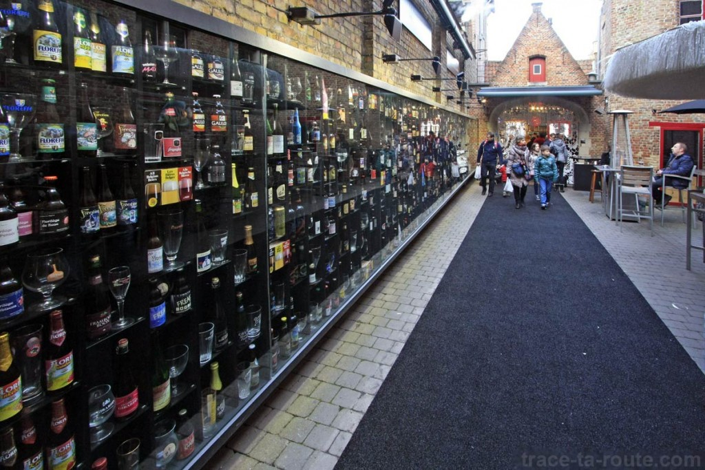 Choix de bières au bar 2be de Bruges