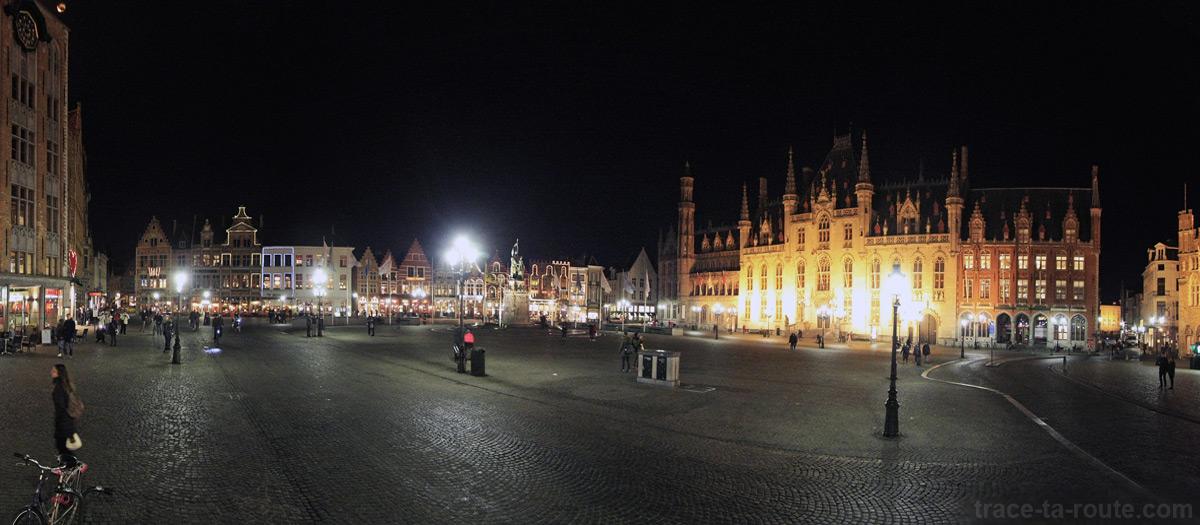 Grote Markt, Grand Place de Bruges la nuit