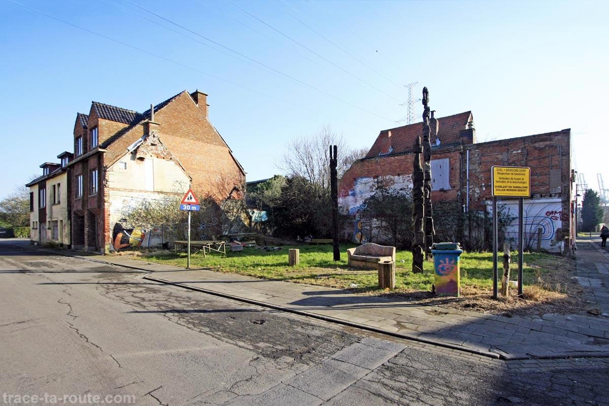 Urbex Belgique - Rues désertes village de Doel