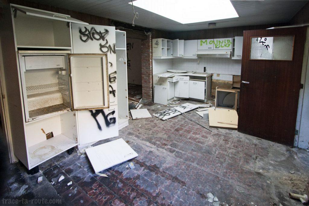 Urbex Belgique - Intérieur d'une maison abandonnée de Doel