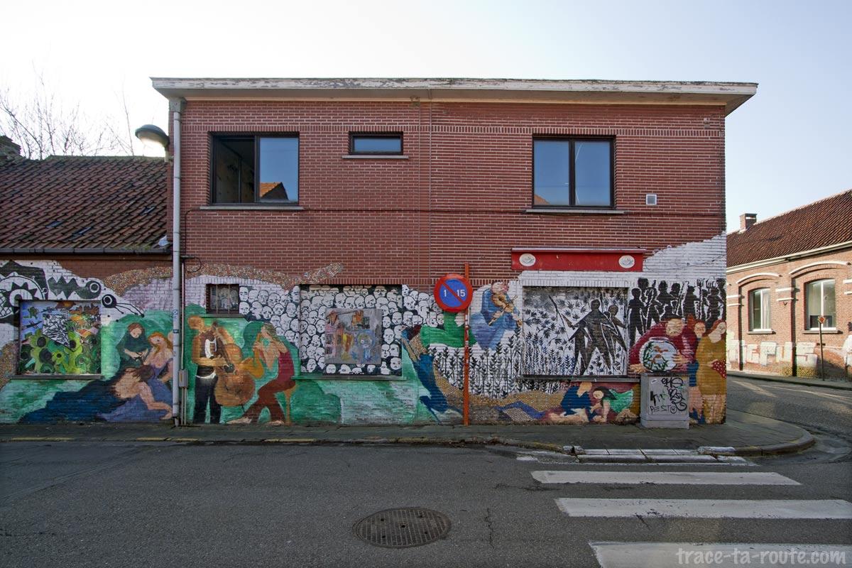 Urbex - Street Art sur un commerce abandonné de Doel Belgique