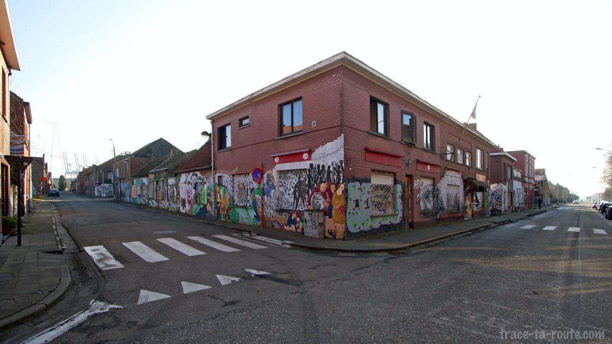 Street Art dans les rues de Doel