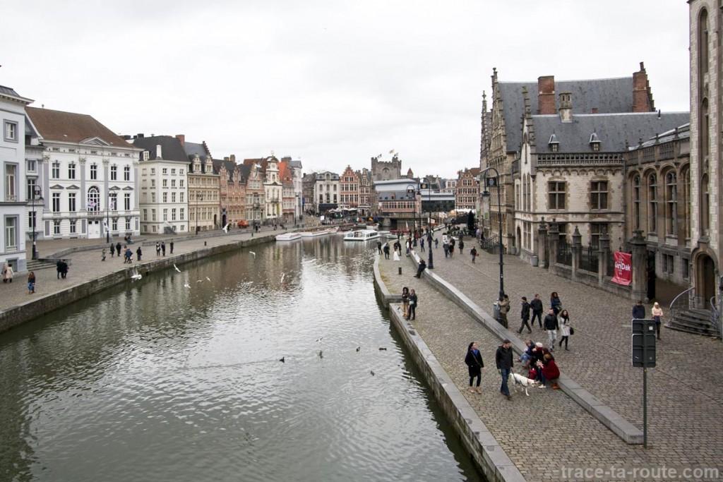 Graslei, quai de la Lys de Gand, Belgique - Gent Belgium