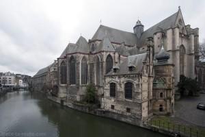 Église Saint-Michel de Gand sur les bords de la Lys, Belgique - Gent Belgium