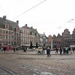 Sint-Veerleplein (place Saint-Pharaïlde) à Gand, Belgique - Gent Belgium