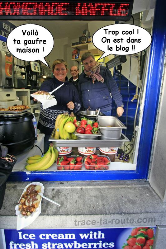 Les gaufres maison de Belgian Homemade Waffles à Gand