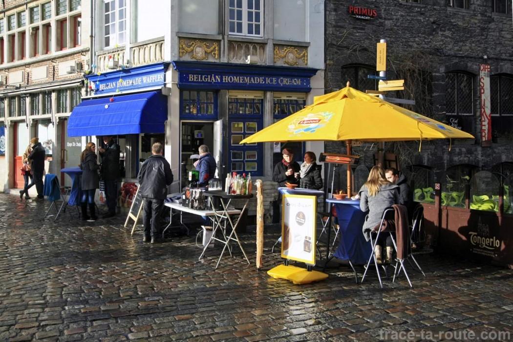 Gaufrerie Belgian Homemade Waffles à Gand, Belgique - Gent Belgium