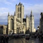 Église Saint-Nicolas et le Beffroi de Gand, Belgique - Gent Belgium