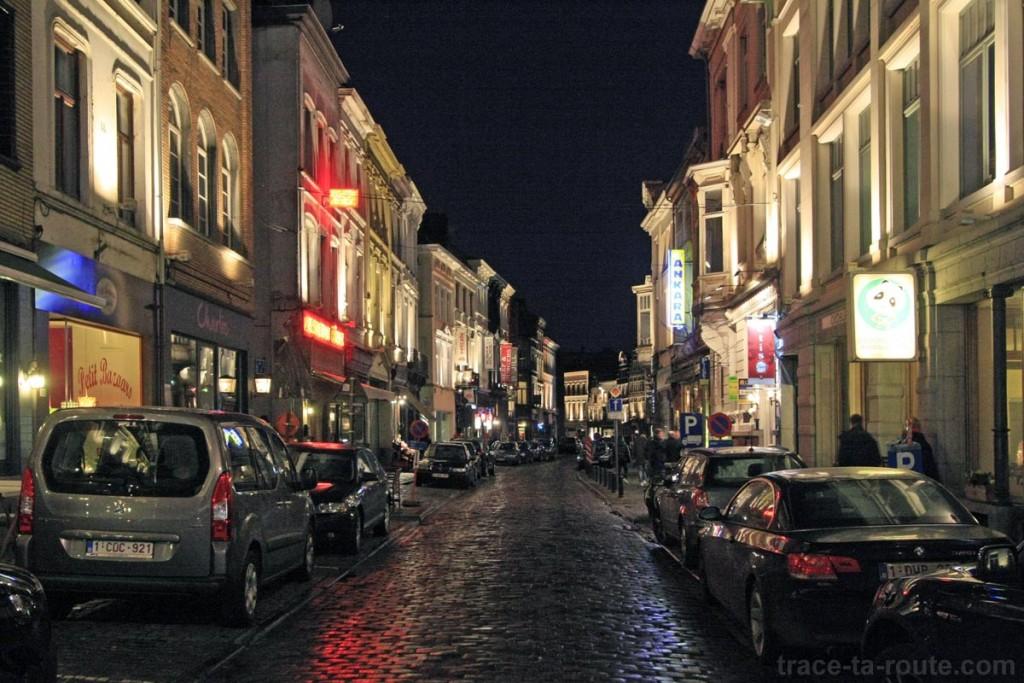 Les restaurants sur Oudburg à Gand, Belgique - Gent Belgium