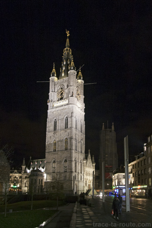 Le Beffroi de Gand de nuit, Belgique - Gent Belgium