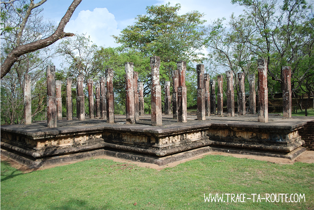 Colonnes de Polonnaruwa, Sri Lanka