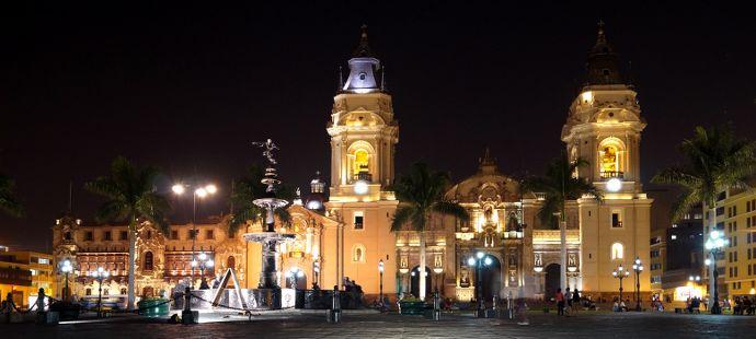 incontournables au Pérou - Lima, quartier colonial et cathédrale de Lima Peru