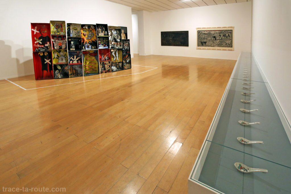 """Under estimate"" (1999) APOTIK COMIK ""Modernism"" (2013) Muhammad 'Ucup' YUSUF ""Maiden of the Ba tree"" (2007) Chang YOONG CHIA - Exposition OPEN SEA au MAC Lyon"