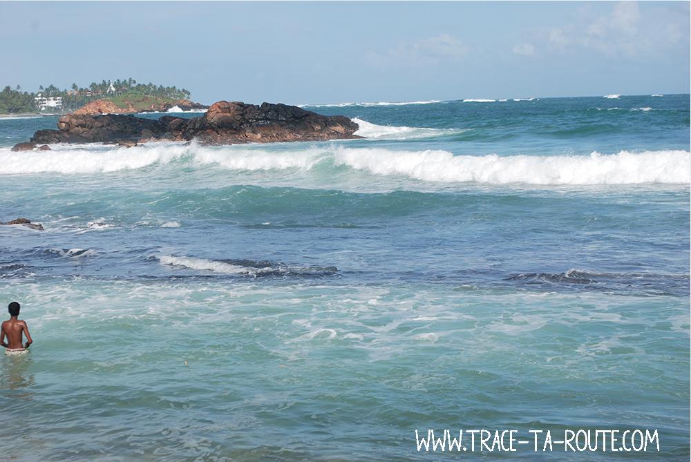 Baignade à Mirissa, Sri Lanka