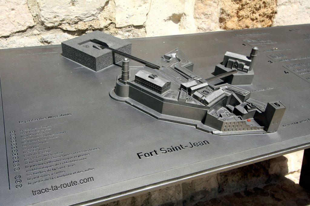 Maquette du Fort Saint-Jean de Marseille et du MuCEM