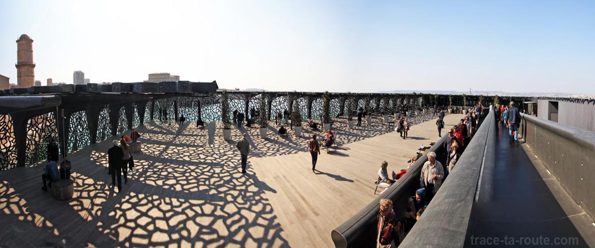 Rampe et Terrasse du MuCEM de Marseille