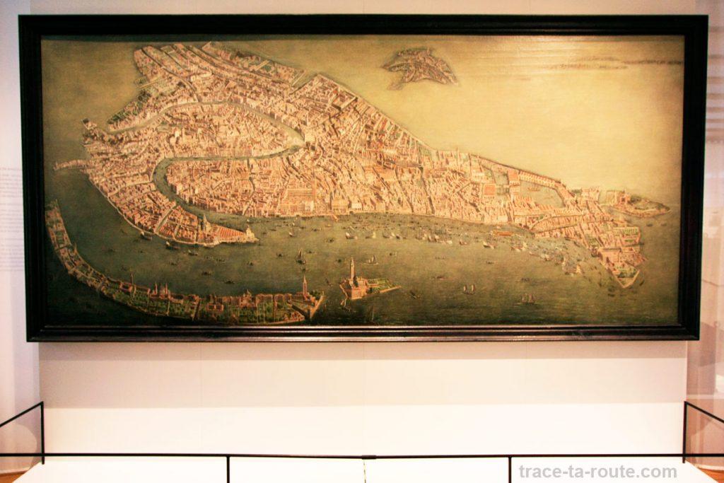 """""""Vue cavalière de Venise"""" (École vénitienne XVIIe) (MuCEM, Galerie de la Méditerranée, salle 3 : """"Citoyenneté et Droits de l'Homme"""")"""