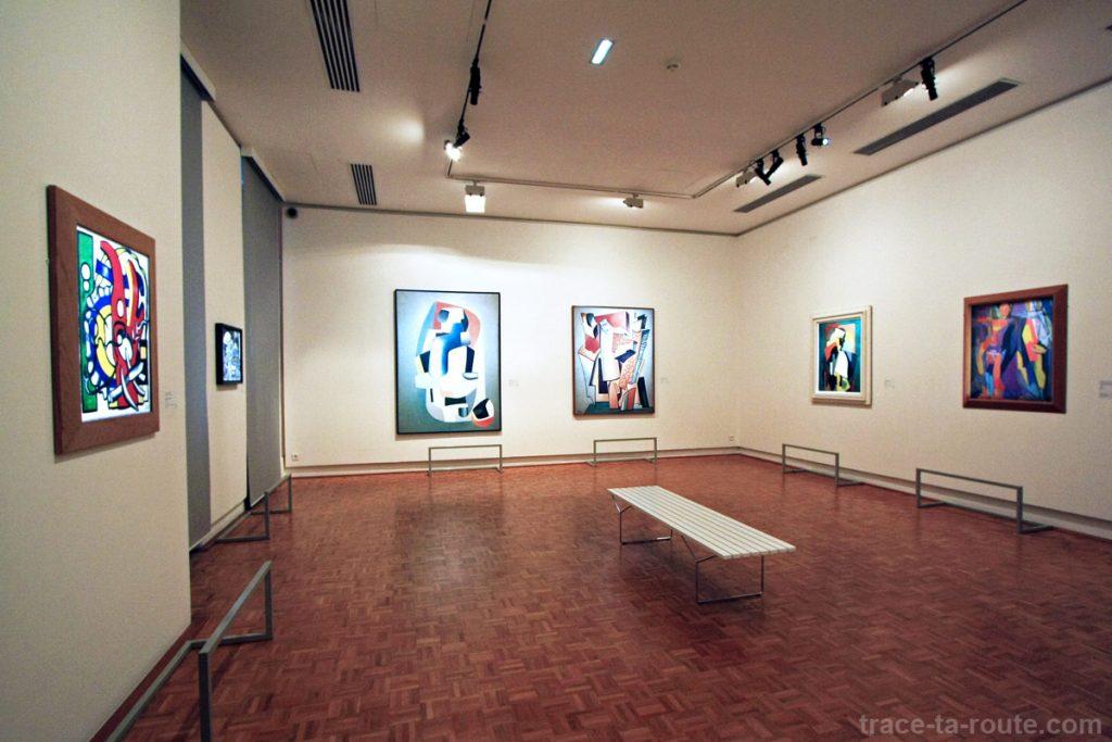 Salle Abstraction au 1er étage du Musée Cantini de Marseille