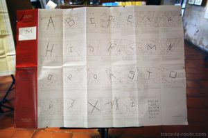 """Topo-typographie"" (2003) Franck Scurti - Exposition ""Alpha Beta Carta"", au Centre International de Poésie de Marseille (cipM)"