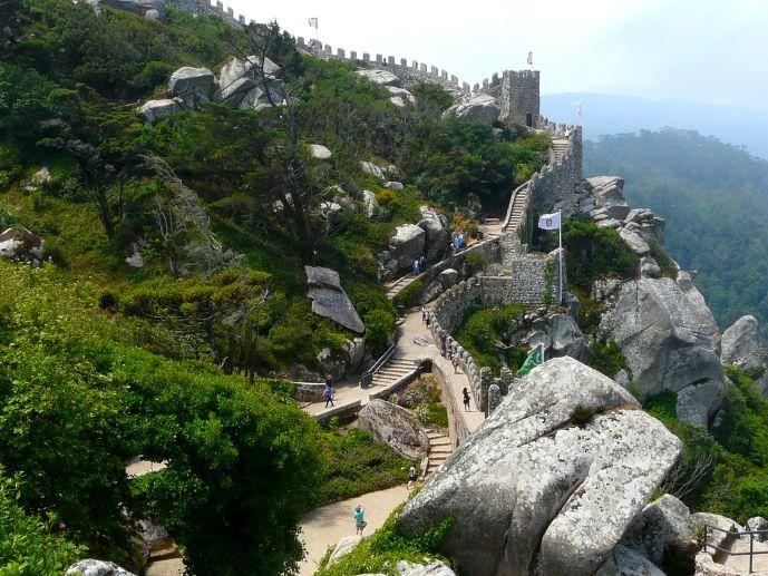 château de los mouros à Sintra lisbonne