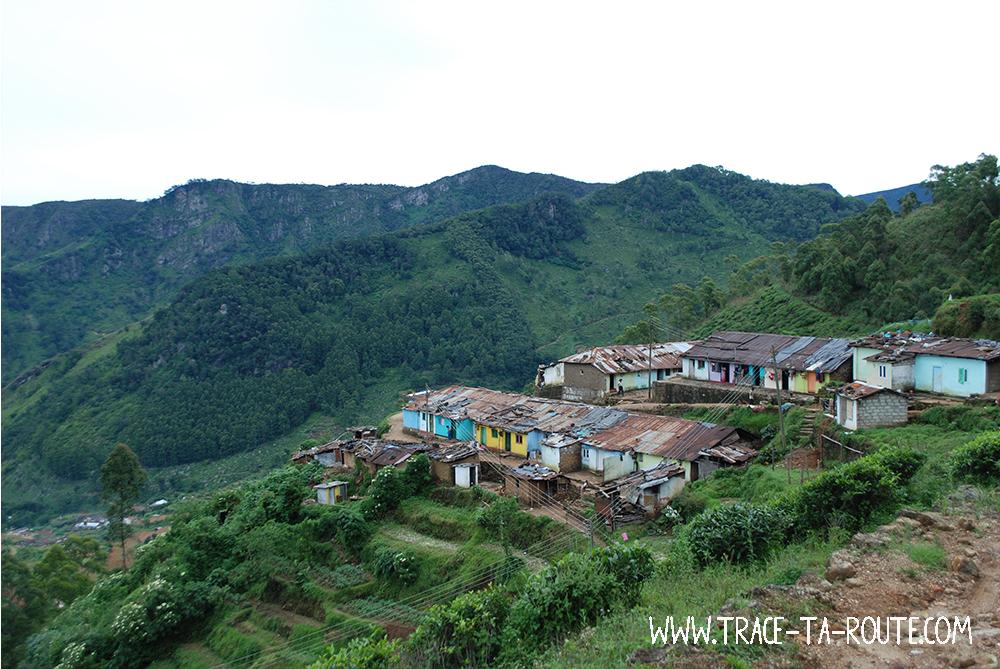 Village Tamoul vers Ohiya, Sri Lanka
