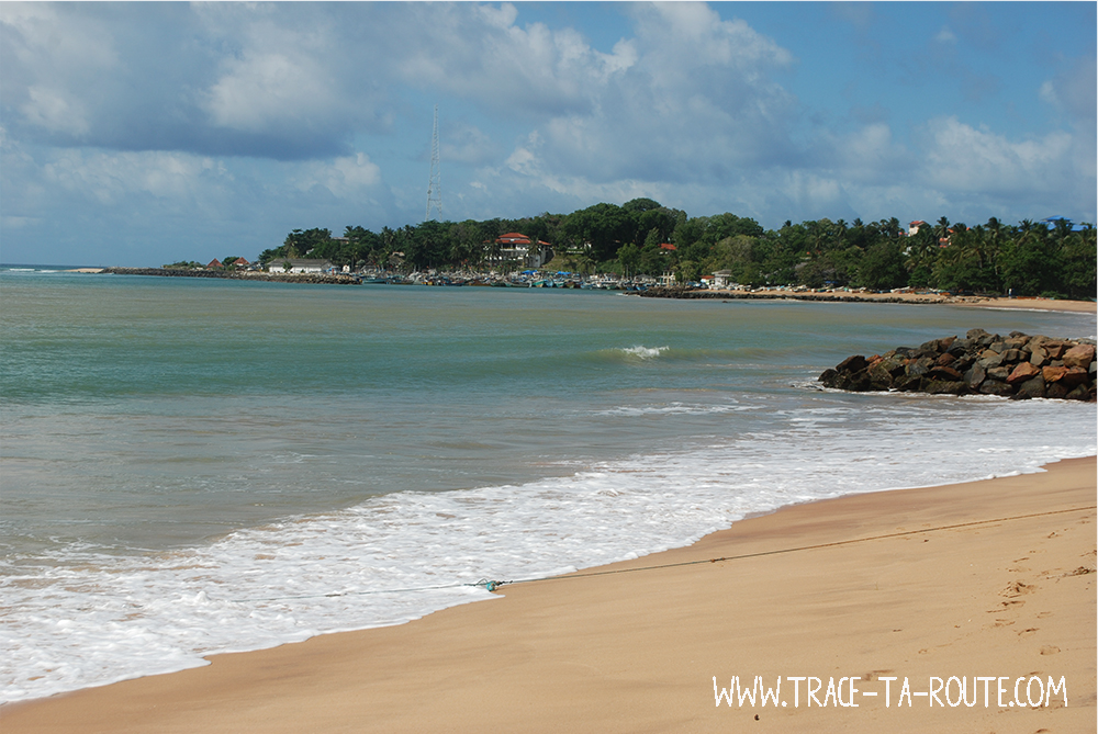 Plage et port de Tangalle, Sri Lanka