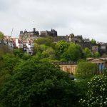 Chateau d'Edimbourg depuis Pincess street