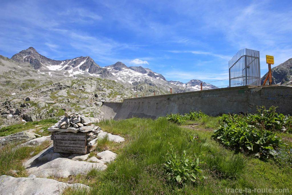 Le barrage du Lac Carré - Les Lacs des 7 Laux (Belledonne)