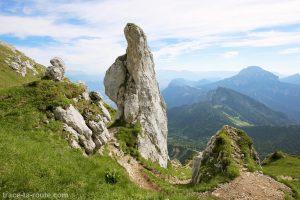 Le Rocher du Pas de l'Oeille, à la Dent de Crolles, en Chartreuse