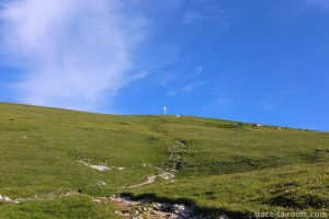 La Croix au sommet de la Dent de Crolles